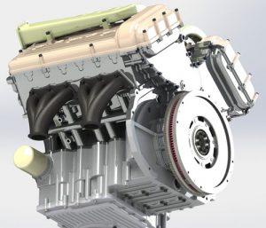 دانلود پروژه طراحی موتور فولکس واگن W12 (2)