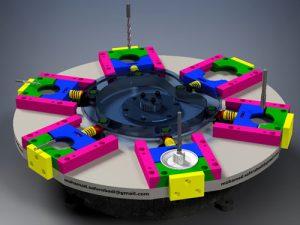 دانلود پروژه طراحی میز ایندکس روتاری 6 ایستگاهه