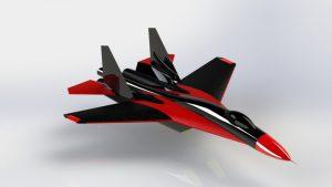 دانلود پروژه طراحی هواپیمای جنگنده سوخو Sukhoi Su-27