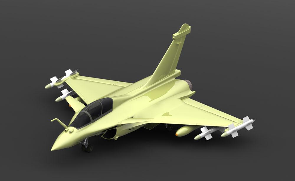 دانلود پروژه طراحی هواپیمای جنگنده چندمنظوره داسو رافال Dassault Rafale B