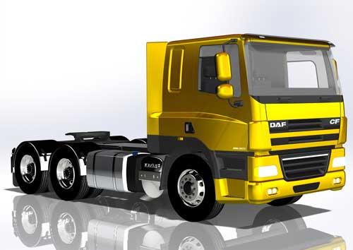 دانلود پروژه طراحی کامیون داف CF85