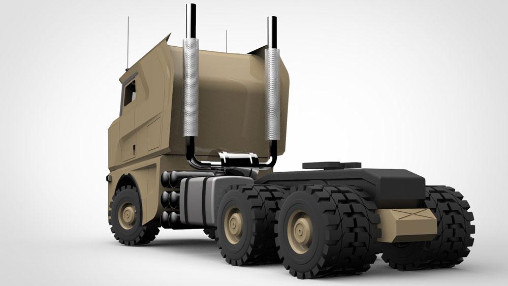 دانلود پروژه طراحی کامیون نظامی مرسدس بنز (1)