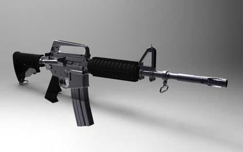 دانلود پروژه طراحی اسلحه ام۴ کارباین M4