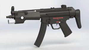 دانلود پروژه طراحی اسلحه مسلسل دستی MP5