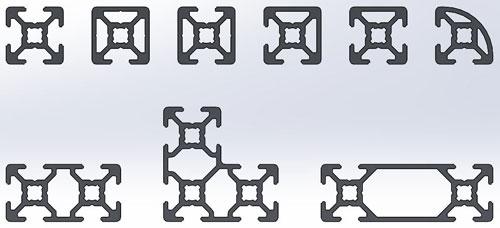 دانلود پروژه طراحی انواع پروفیل آلومینیومی شیاردار (3)