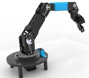 دانلود پروژه طراحی بازوی رباتیک 5dof