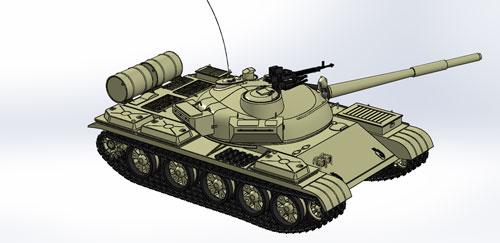 دانلود پروژه طراحی تانک T62
