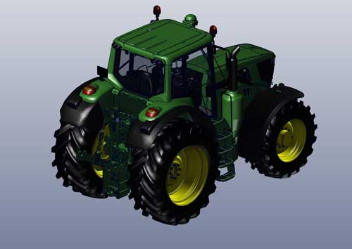 دانلود پروژه طراحی تراکتور جاندیر 6195R (2)