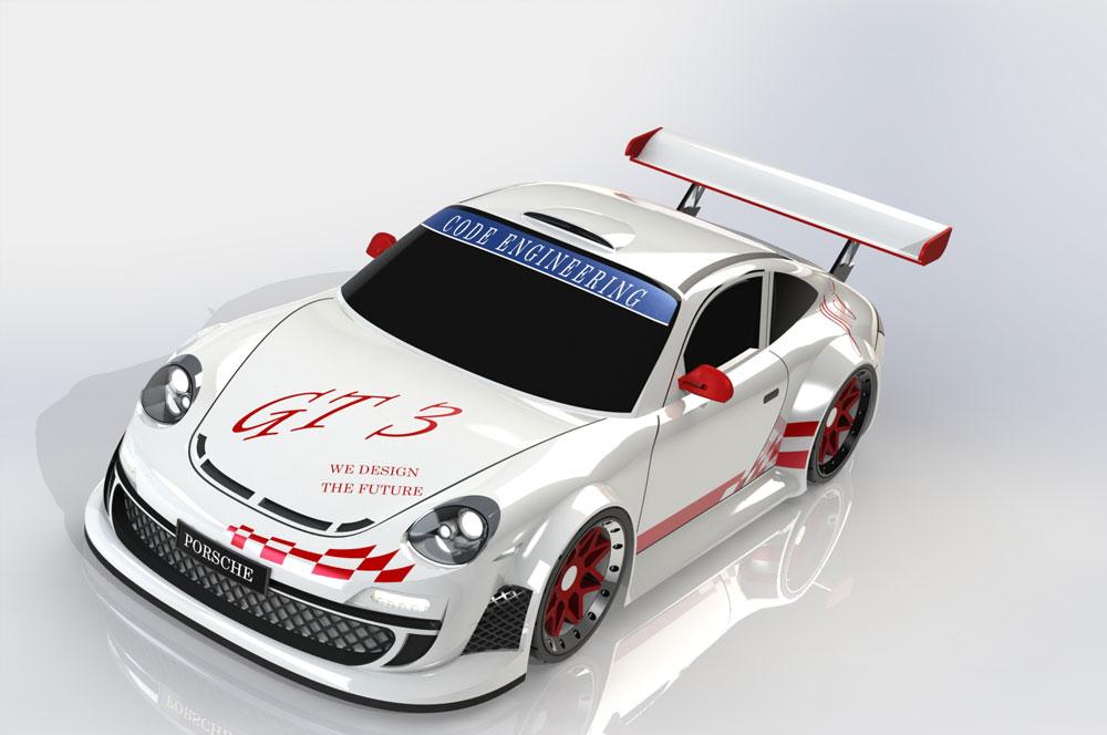 دانلود پروژه طراحی خودرو اسپرت پورشه Porsche 911 GT3