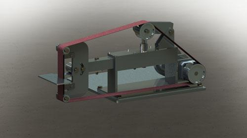 دانلود پروژه طراحی دستگاه سنباده تسمه ای