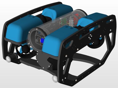دانلود پروژه طراحی زیردریایی هدایت پذیر از دور BlueROV2