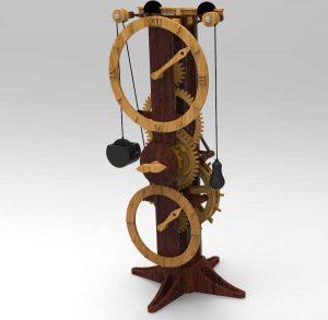 دانلود پروژه طراحی ساعت لئوناردو داوینچی