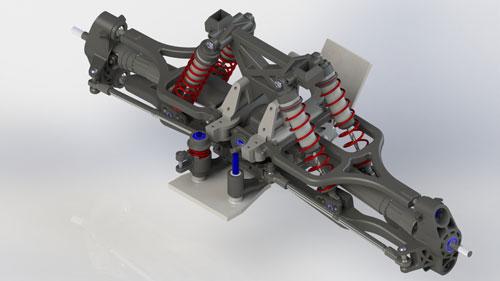 دانلود پروژه طراحی سیستم تعلیق جلو و فنر بندی Traxxas X-Maxx