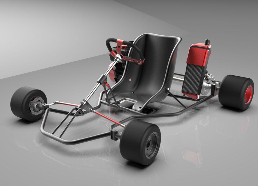 دانلود پروژه طراحی شاسی ماشین کارتینگ Go-kart (2)