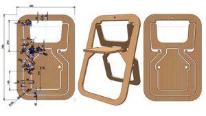 دانلود پروژه طراحی صندلی چوبی تاشو اسکاندیناوی