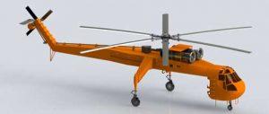 دانلود پروژه طراحی هلیکوپتر جرثقیل سیکورسکی S64 (2)