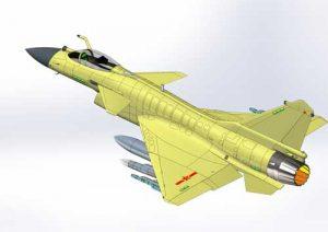 دانلود پروژه طراحی هواپیمای جنگنده چندمنظوره چنگدو J-10 (2)