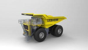 دانلود پروژه طراحی کامیون معدن لیبهر Liebherr T264 (2)