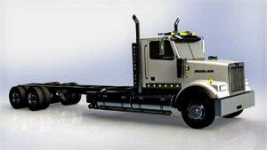 دانلود پروژه طراحی کامیون وسترن استار 4900SF