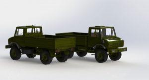 دانلود پروژه طراحی کامیون چند منظوره مرسدس بنز یونیماگ 1300L