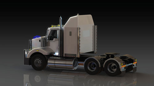 دانلود پروژه طراحی کامیون کنورث T409 (2)