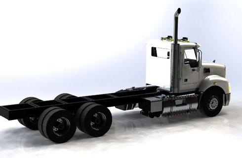 دانلود پروژه طراحی کامیون ماک گرانیت LWB (2)