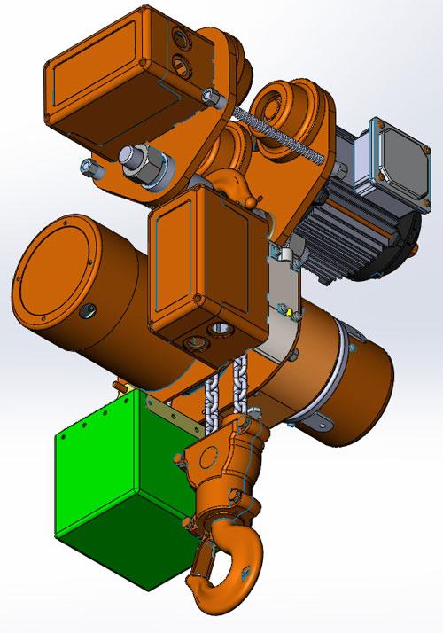 دانلود پروژه طراحی بالابر زنجیری برقی 2 تن