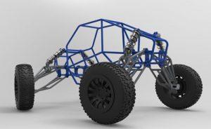 دانلود پروژه طراحی شاسی ,سیستم تعلیق و چرخ خودرو باگی آفرود