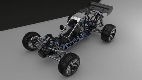 دانلود پروژه طراحی ماشین باگی کنترلی بنزینی HPI Baja 5B/5T