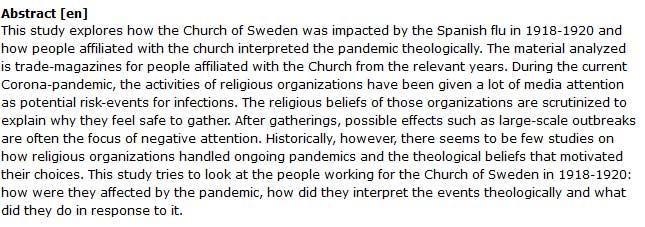 دانلود پایان نامه : بررسی تأثیر کلیسا در پاندمی آنفلوانزای اسپانیایی