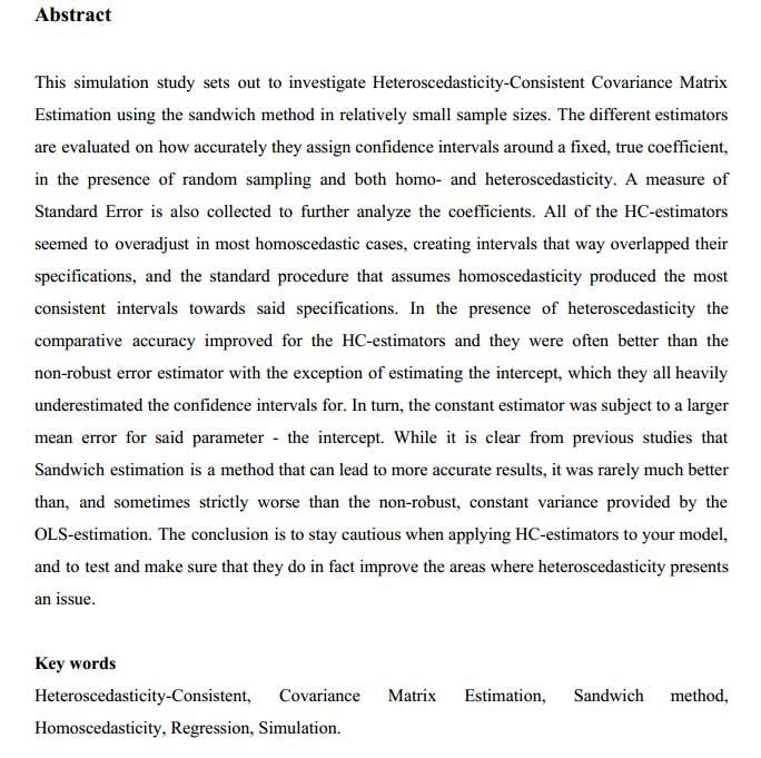 دانلود پایان نامه بررسی تخمین ماتریس کوواریانس با روش ساندویچ