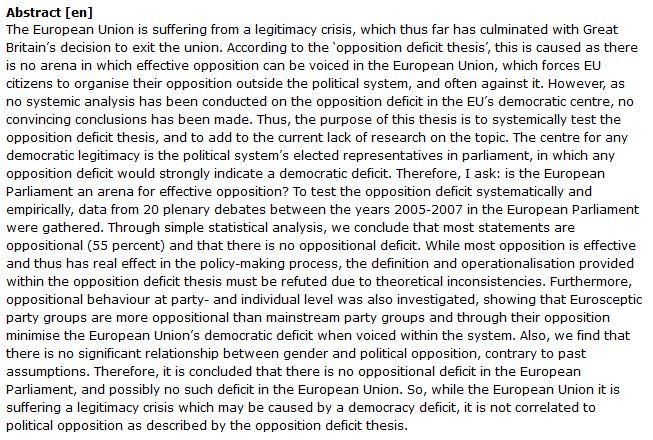 دانلود پایان نامه : بررسی تز oppositional deficit در اتحادیه اروپا