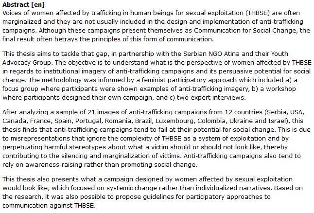 دانلود پایان نامه : بررسی جایگاه زنان در کمپین های مبارزه با قاچاق انسان