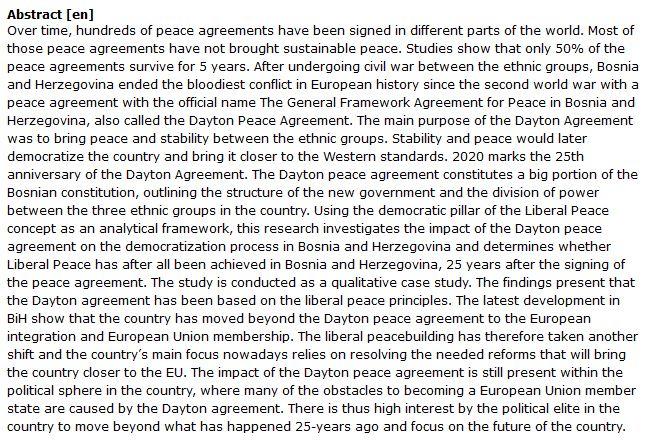 دانلود پایان نامه : بررسی دموکراتیک سازی در بوسنی و هرزگوین