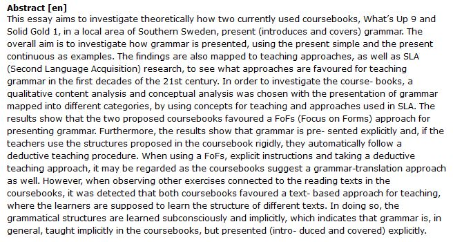دانلود پایان نامه : بررسی نحوه ارائه دستور زبان انگلیسی در کتاب های درسی