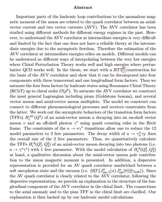 دانلود پایان نامه : بررسی همبستگی کوارک در بردار محوری با دو جریان