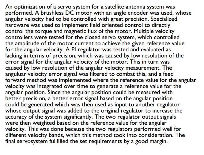 دانلود پایان نامه بهینه سازی سروو درایو با استفاده از کنترل جهت دار