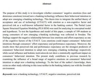دانلود پایان نامه تأثیر جنبه های منفی بانکداری