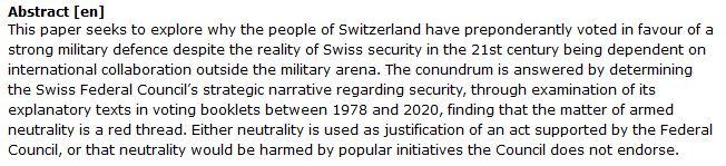 دانلود پایان نامه : تحلیل انتقادی همکاری امنیتی و نظامی سوئیس در بین الملل