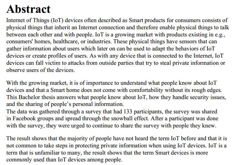 دانلود پایان نامه : مطالعه کیفی در مورد دانش و نگرانی مردم در زمینه اینترنت اشیا