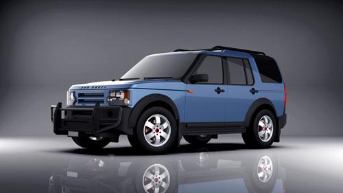 دانلود پروژه طراحی خودرو لندرور LR3