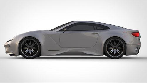 دانلود پروژه طراحی خودرو کوپه اسپرت