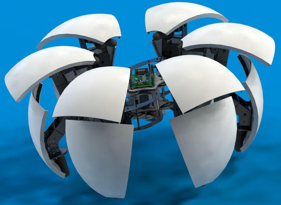 دانلود پروژه طراحی ربات اکتشاف کروی MorpHex