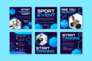 دانلود پروژه طراحی قالب لایه باز استوری و پست اینستاگرام مربی ورزش