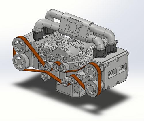 دانلود پروژه طراحی موتور تخت خودرو سوبارو Subaru