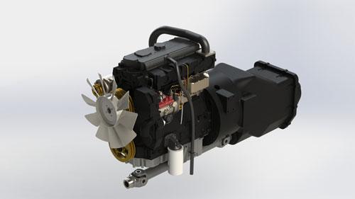 دانلود پروژه طراحی موتور تراکتور Perkins