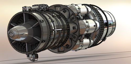 دانلود پروژه طراحی موتور جت Orenda