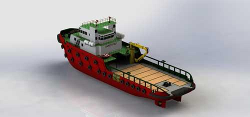 دانلود پروژه طراحی کشتی یدک کش اضطراری و حمل و نقل