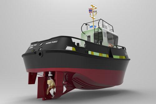 دانلود پروژه طراحی کشتی یدک کش STAN TUG