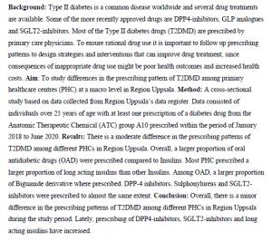 دانلود پایان نامه : مطالعه تطبیقی تجویز داروی دیابت در مراکز بهداشتی